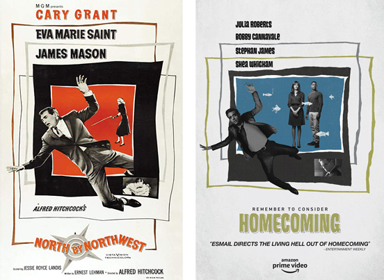 Homecoming poster looks like a saul bass rip off